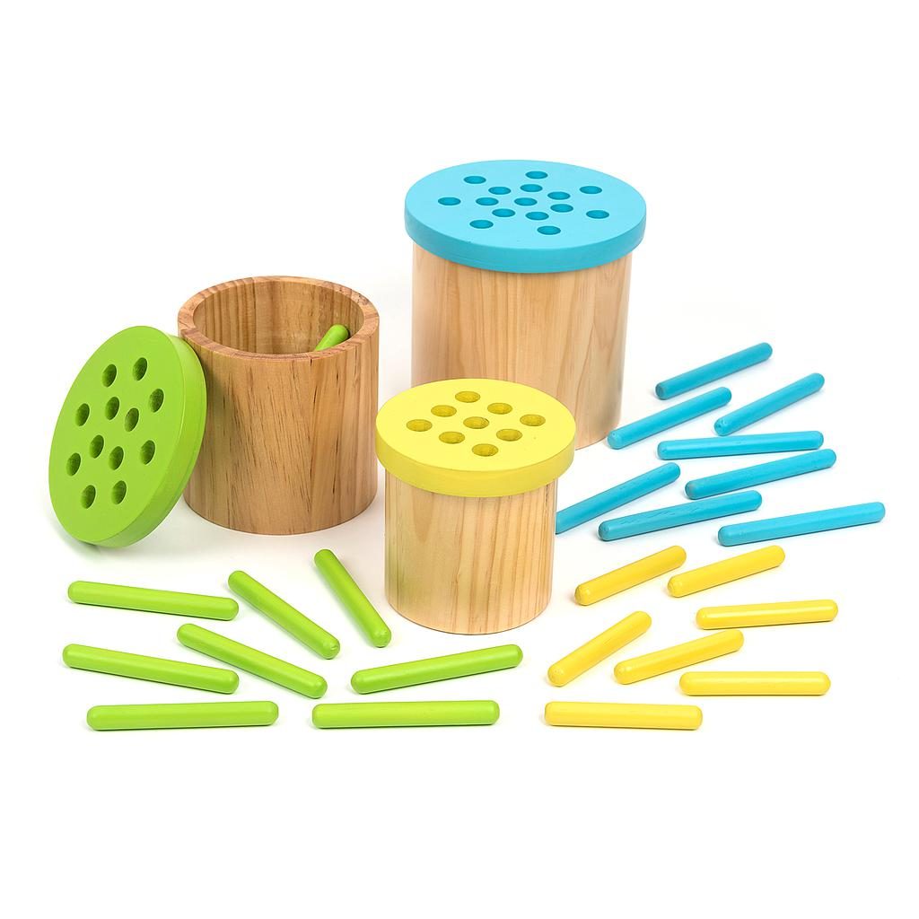 TTS Colour Matching Posting Pots Wooden Straws
