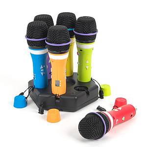TTS Easi-Speak Bluetooth Rainbow Microphones 6pk