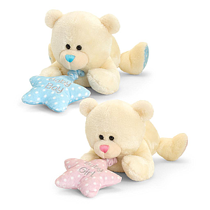 Keel Toys Lying Bear with Music 25 cm