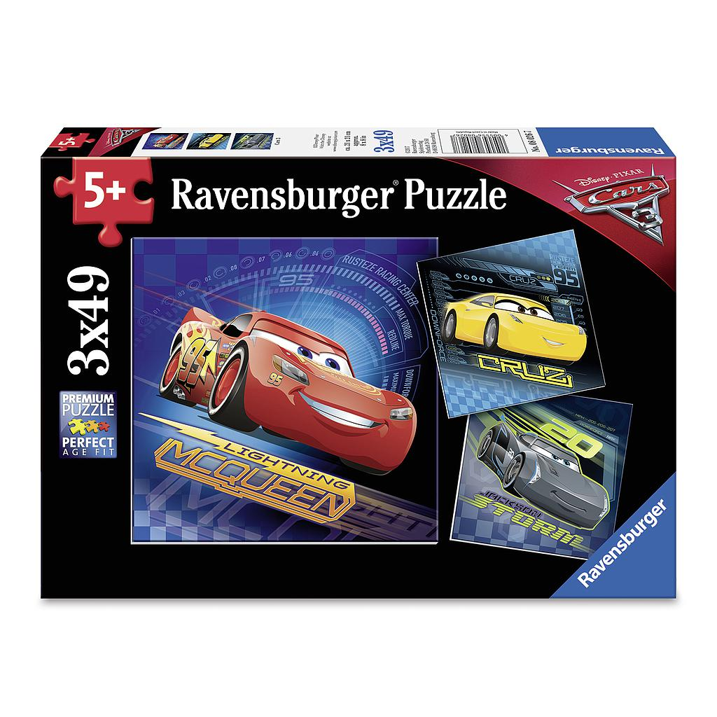Ravensburger Puzzle 3x49 pc Cars 3