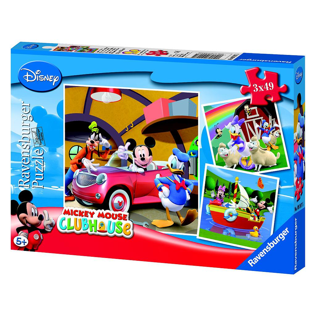Ravensburger Puzzle 3x49 pc Mickey Mouse Clubhouse