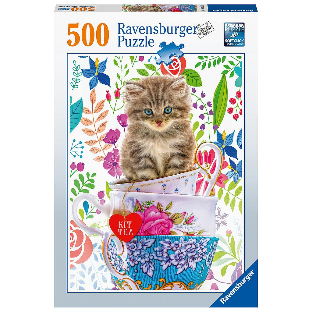 Ravensburger Puzzle 500 pc Teacup Kitty