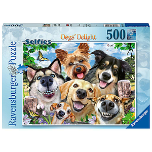 Ravensburger Puzzle 500 pc Selfies Dogs' Delight