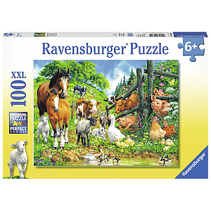 Ravensburger Puzzle 100 pc Animal Get Together
