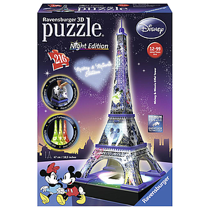 Ravensburger 3D Puzzle Mickey Minnie Eiffel Tower