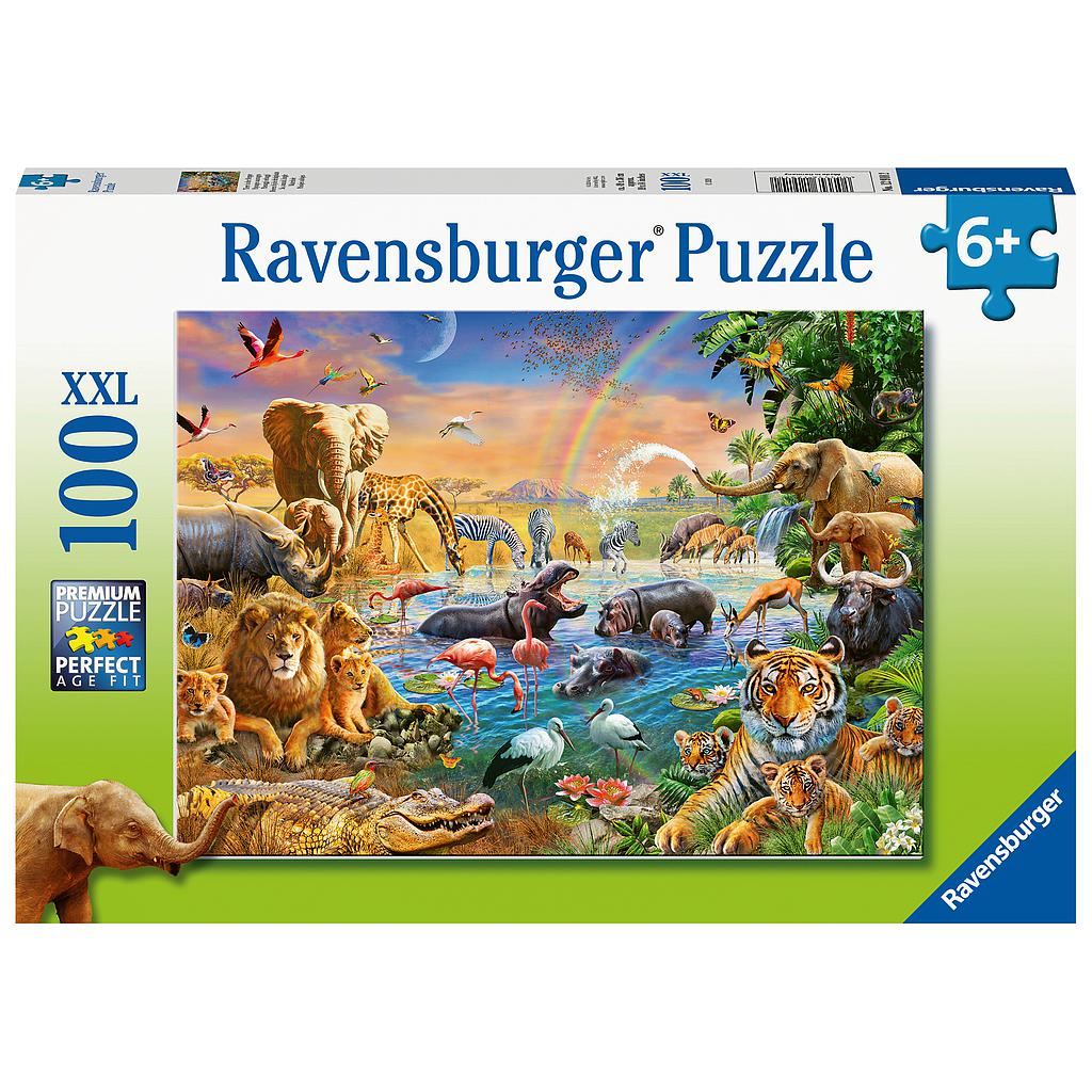 Ravensburger Puzzle 100 pc Savannah Jungle Waterhole