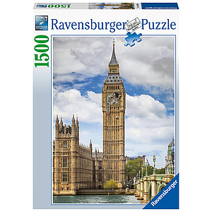 Ravensburger Puzzle 1500 pc Funny cat on Big Ben
