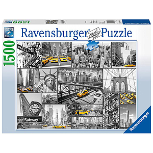 Ravensburger pusle 1500 tk. New York taksod