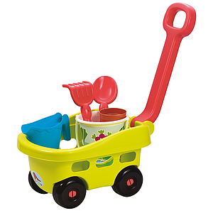 Ecoiffier trolley with sand tools