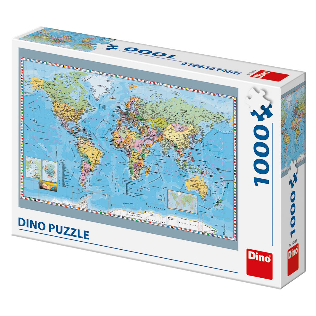 Dino Puzzle 1000 pc Political Map of the World