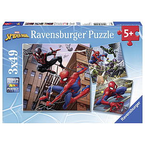 Ravensburger pusle 3x49 tk Spiderman