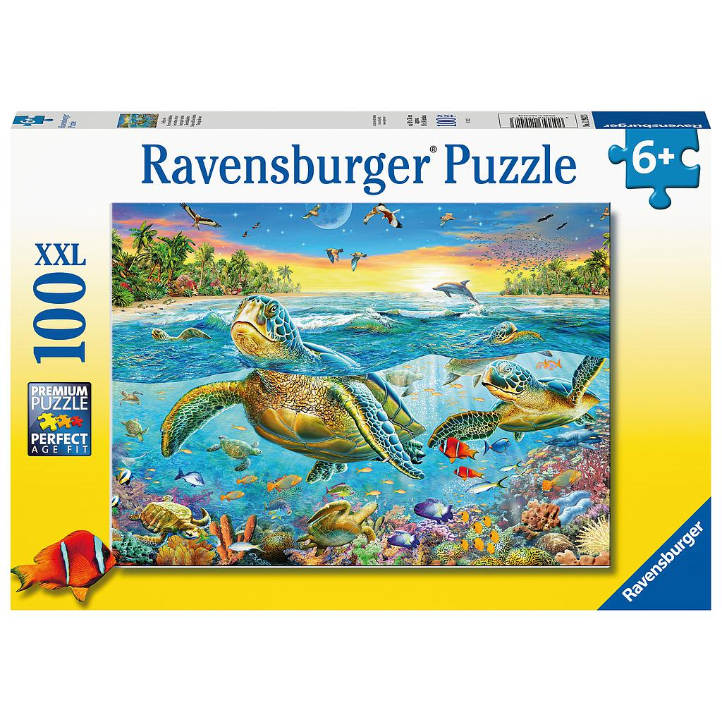 Ravensburger Puzzle 100 pc Swim with Sea Turtles XXL