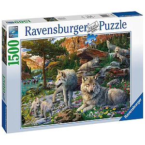Ravensburger Puzzle 1500 pc Wolves in the Forest