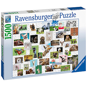 Ravensburger Puzzle 1500 pc Funny Animals Collage