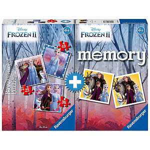 Ravensburger Board Game Memory+ Puzzle Frozen 2