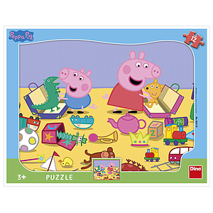 Dino Frame Puzzle 12 pc, Peppa Pig