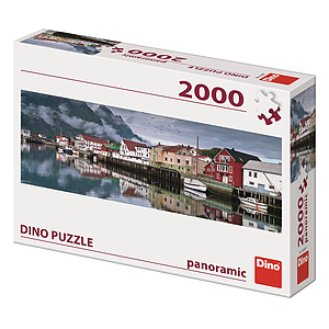 Dino Panoramic Puzzle 2000 pc Fishing Village