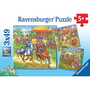 Ravensburger Puzzle 3x49 pc The Knight Tournament