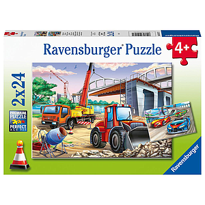 Ravensburger Puzzle 2x24 pc Buildings and Vehicles