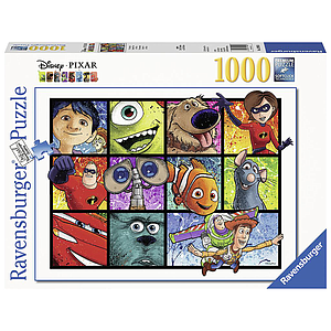 Ravensburger Puzzle 1000 pc Pixar: Splatter Art