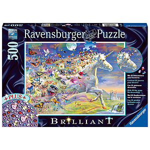 Ravensburger Puzzle 500 pc Unicorn and Butterflies