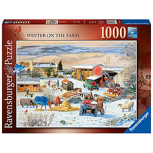 Ravensburger Puzzle 1000 pc Winter on the Farm
