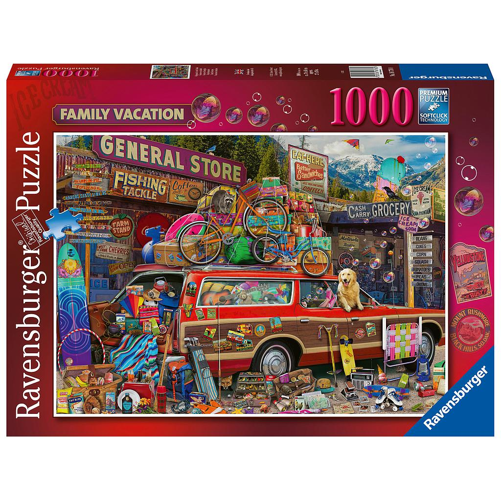 Ravensburger Puzzle 1000 pc Family Vacation