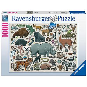 Ravensburger Puzzle 1000 pc You Wild Animal