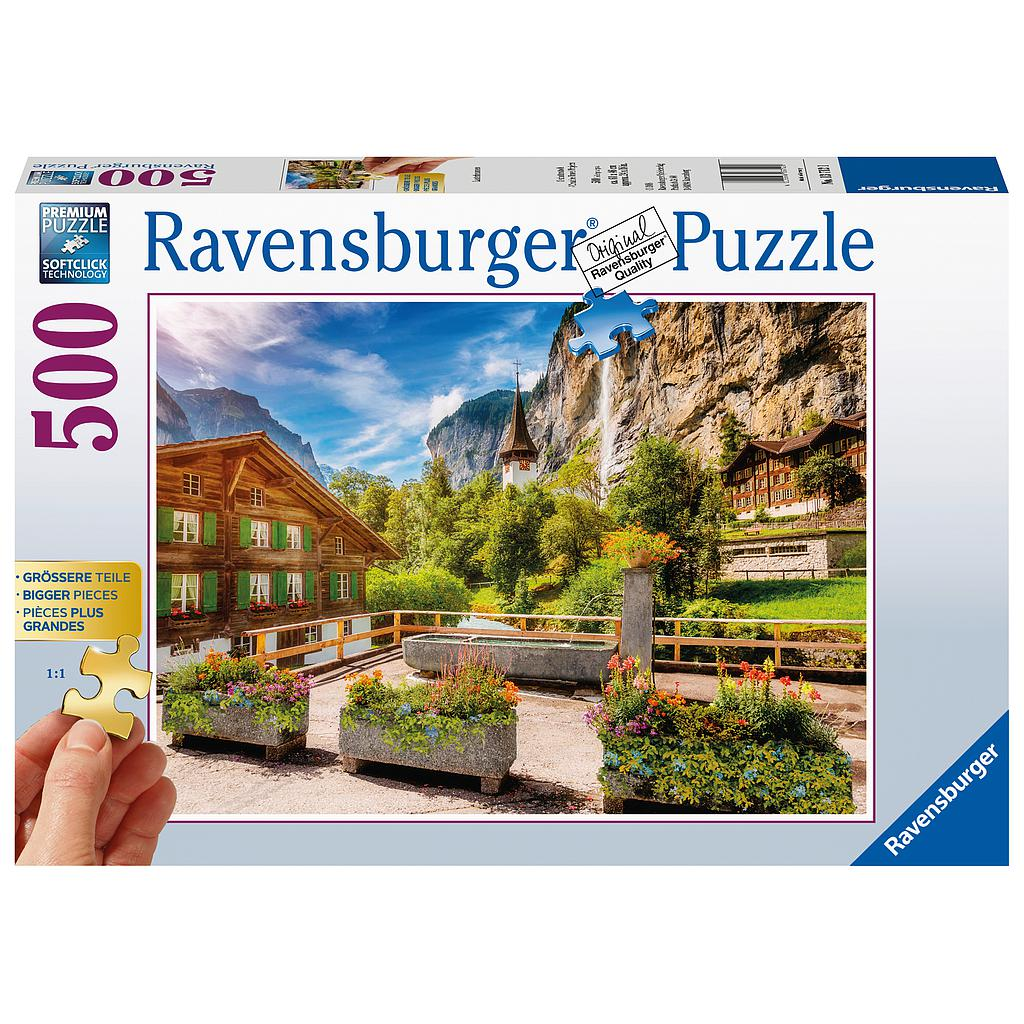 Ravensburger Puzzle 500 pc Lauterbrunnen, Switzerland