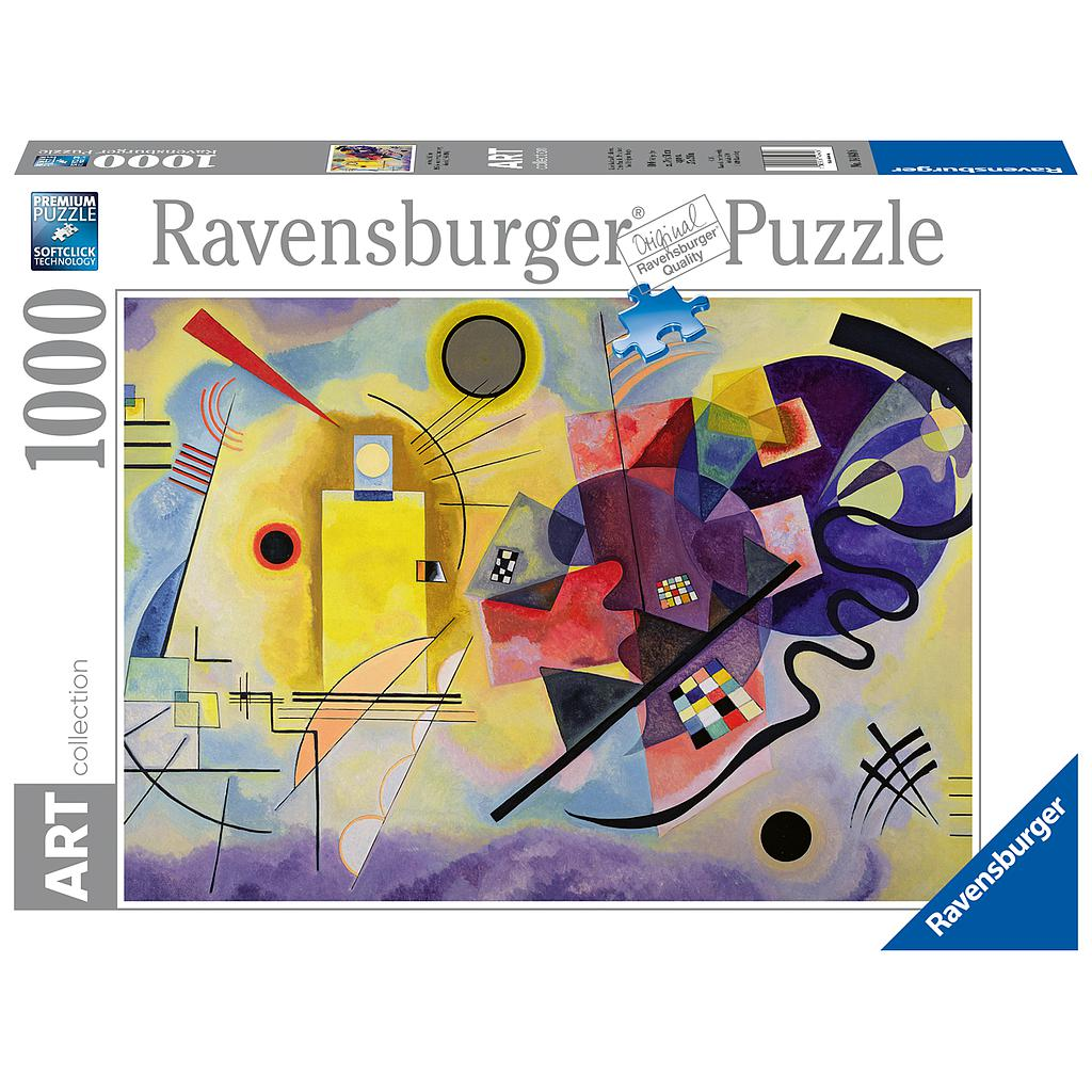 Ravensburger Puzzle 1000 pc Art Collection Yellow-Red-Blue