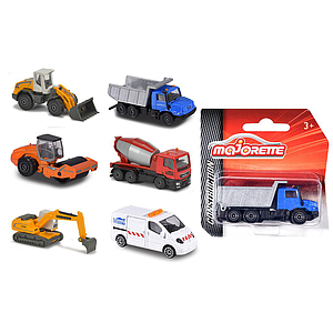 Majorette Construction Machinery, 6 different
