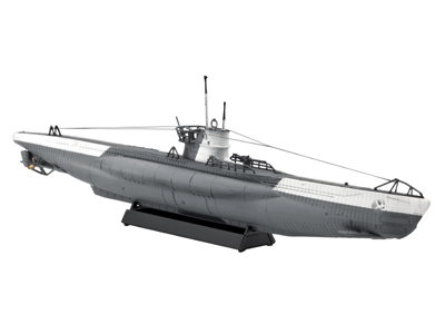 Revell plastic model German Submarine Type VII C 1:350