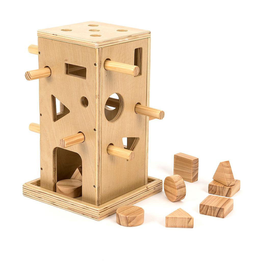 TTS Wooden Posting Activity Tower