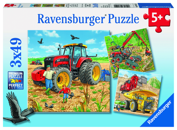 Ravensburger Puzzle 3x49 pc Giant Machines