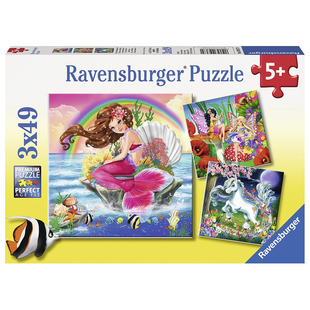 Ravensburger Puzzle 3x49 pc Mythical Creatures