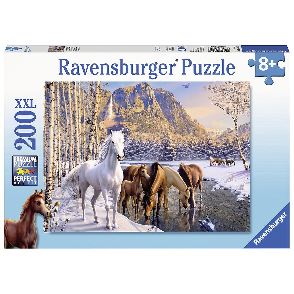 Ravensburger Puzzle 200 pc Winter Horses