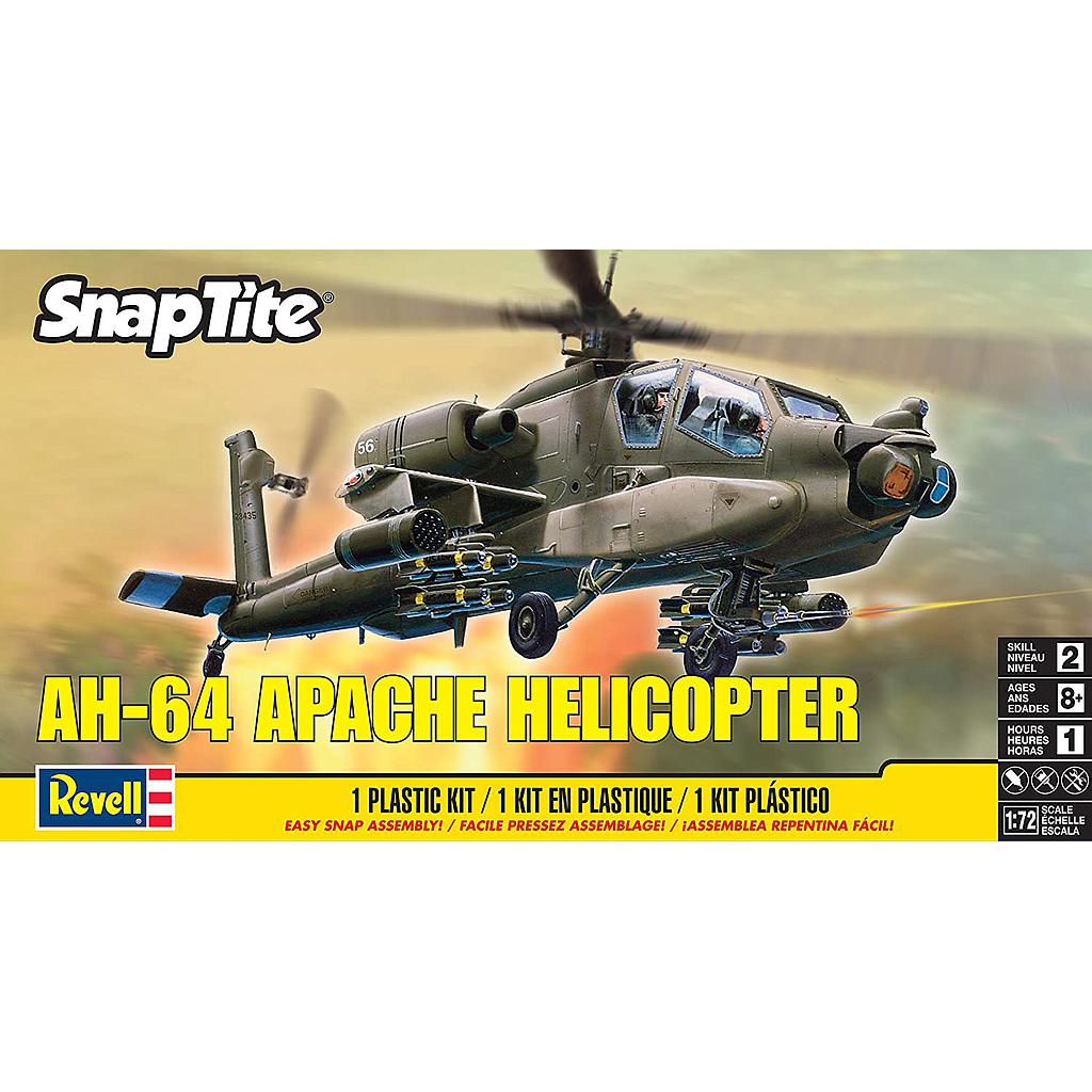 Revell AH-64 Apache Helicopter 1:72 Easy-Click