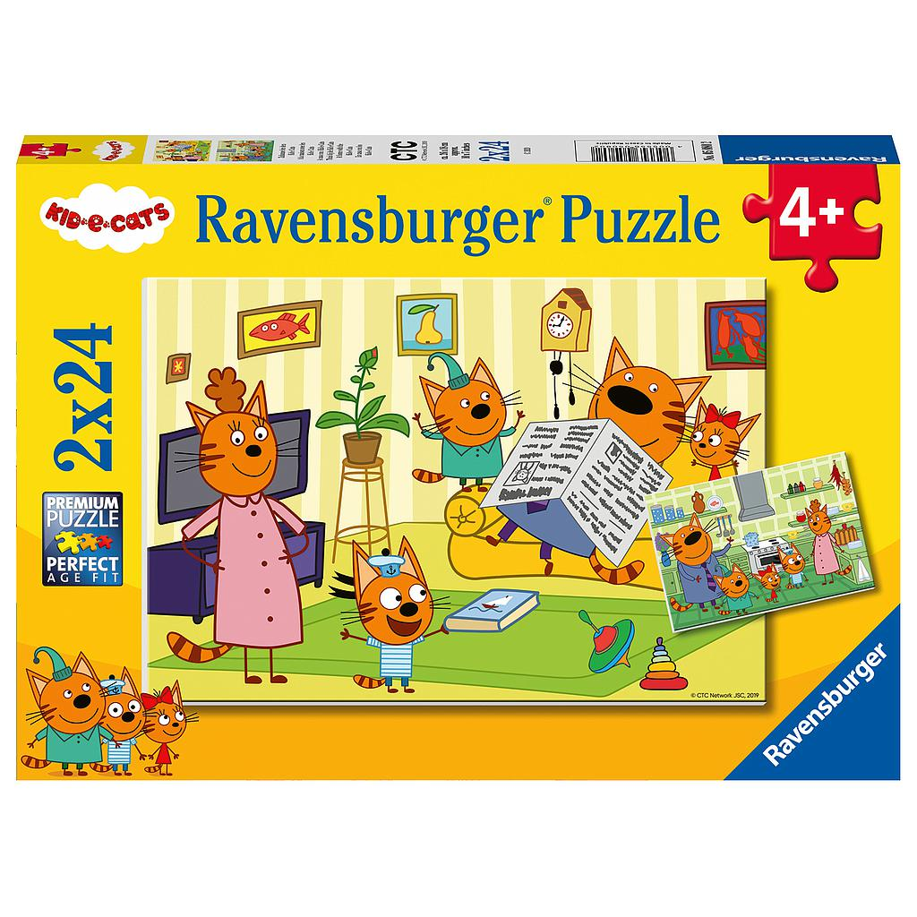 Ravensburger Puzzle 2x12 pc Cats