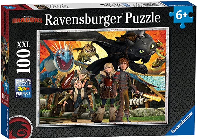 Ravensburger Puzzle 100 pc How to Train your Dragon XXL