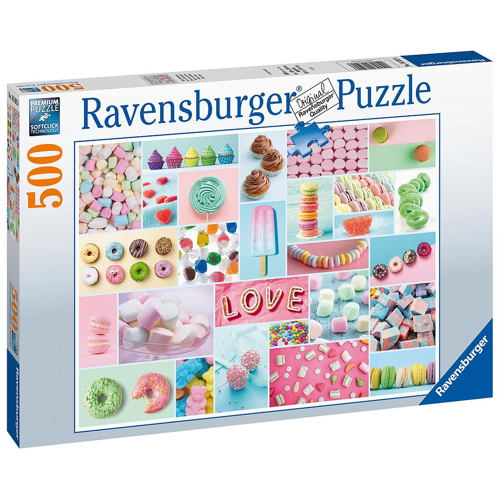 Ravensburger Puzzle 500 pc Sweet Collage