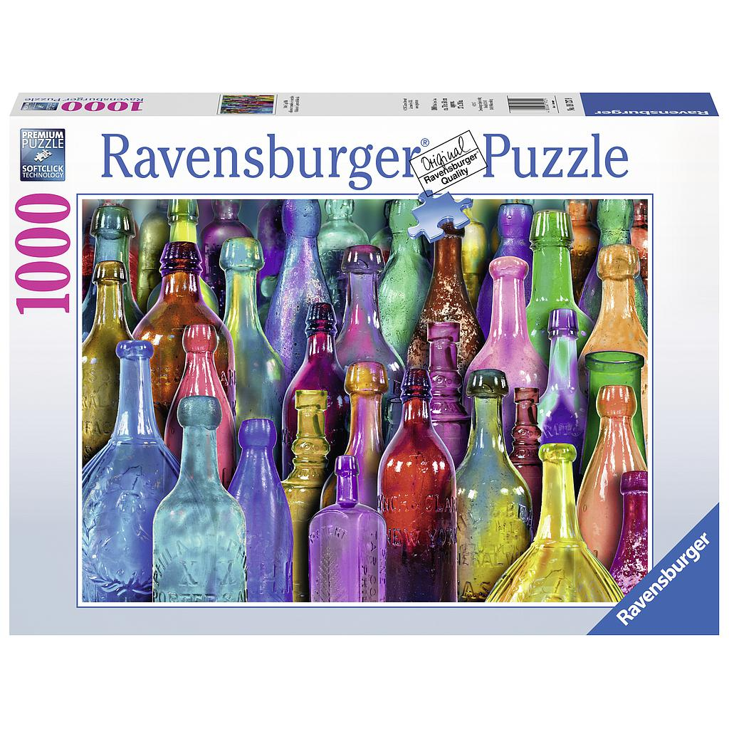 Ravensburger Puzzle 1000 pc Colorful Bottles