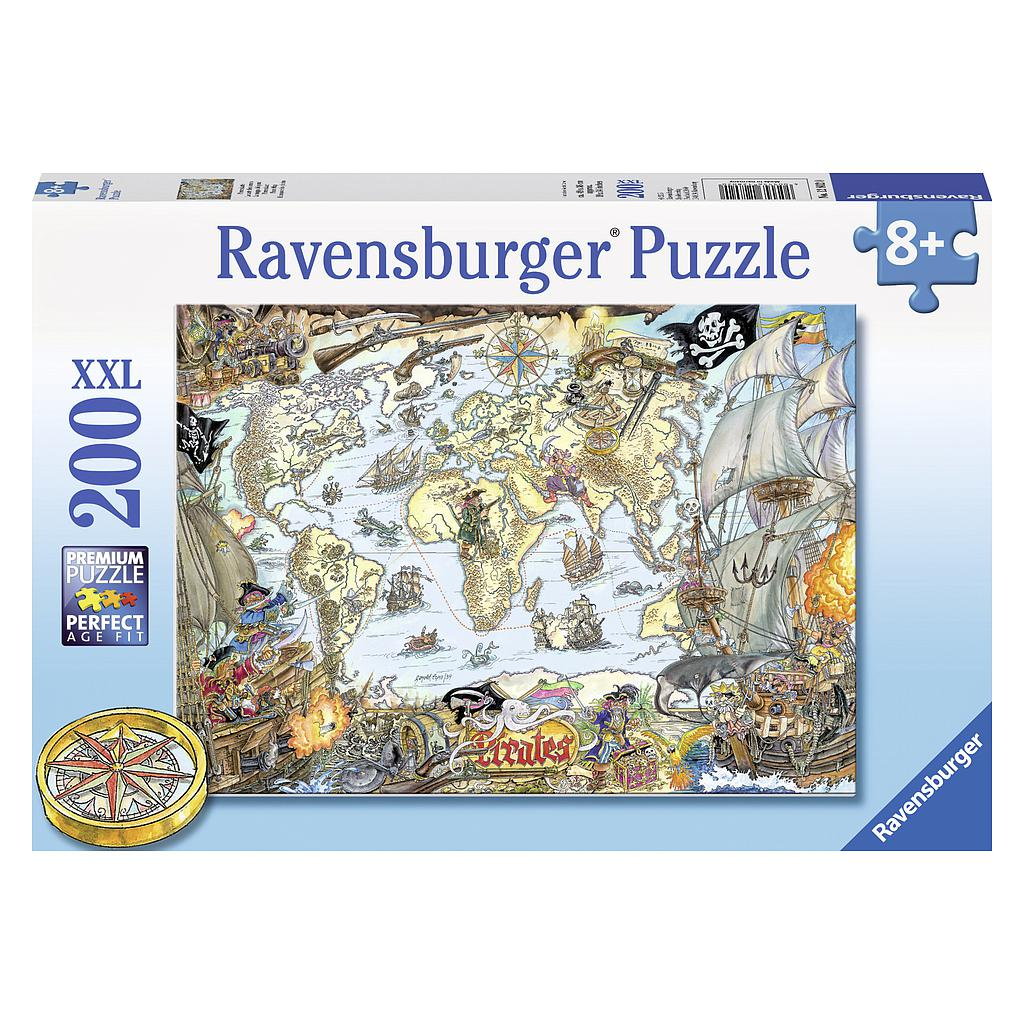 Ravensburger Puzzle 200 pc Pirate Map XXL